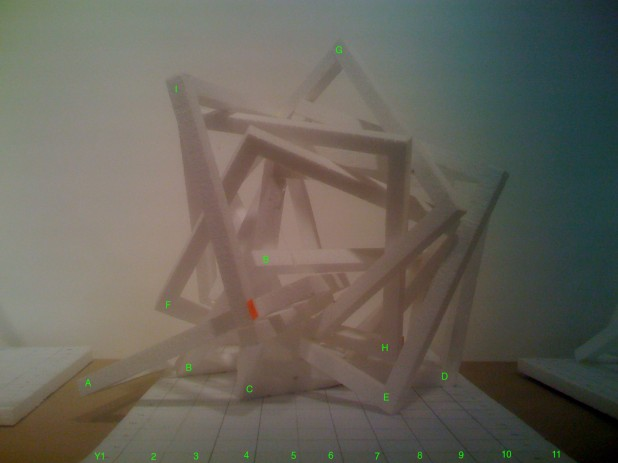 Maquette - facing east, Y Axis